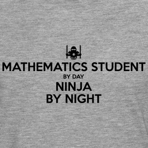 mathematics student day ninja by night - Men's Premium Longsleeve Shirt