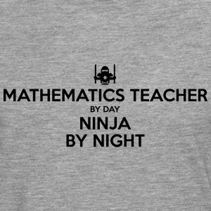 mathematics teacher day ninja by night - Men's Premium Longsleeve Shirt