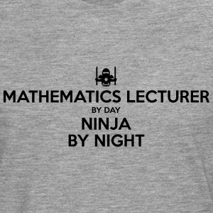 mathematics lecturer day ninja by night - Men's Premium Longsleeve Shirt