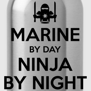 marine day ninja by night - Water Bottle