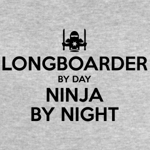 longboarder day ninja by night - Men's Sweatshirt by Stanley & Stella
