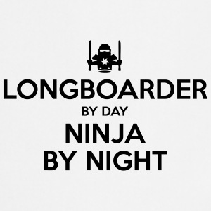 longboarder day ninja by night - Cooking Apron
