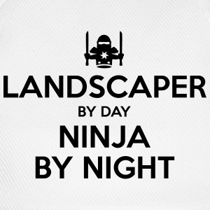 landscaper day ninja by night - Baseball Cap