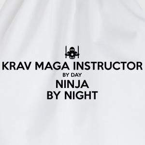 krav maga instructor day ninja by night - Drawstring Bag