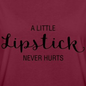 A little Lipstick never hurts - Frauen Oversize T-Shirt