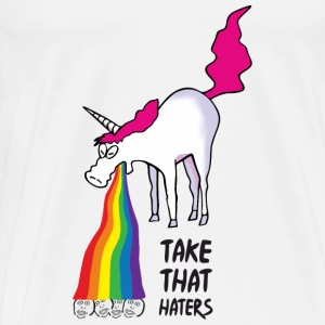 Unicorn vomiting rainbow - take that haters Sports wear - Men's Premium T-Shirt