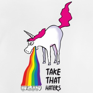 Einhorn kotzt Regenbogen - take that haters T-Shirts - Baby T-Shirt