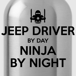 jeep driver day ninja by night - Water Bottle