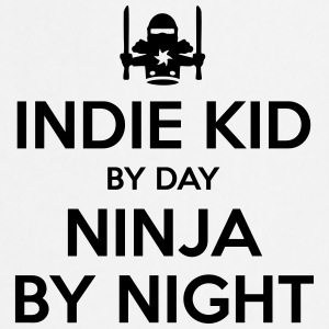 indie kid day ninja by night - Cooking Apron