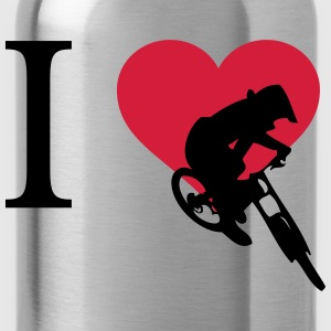 I love downhill - Water Bottle
