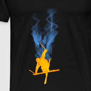 Freestyle ski flamme - Premium T-skjorte for menn