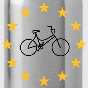 Lady's bike in the stars - Water Bottle