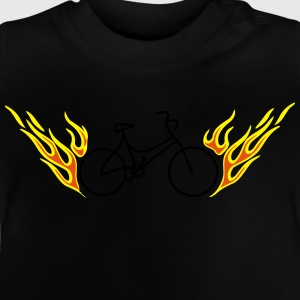 Bike with flames - Baby T-Shirt