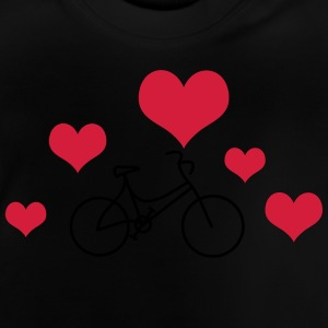 Ladies bike with heart - Baby T-Shirt