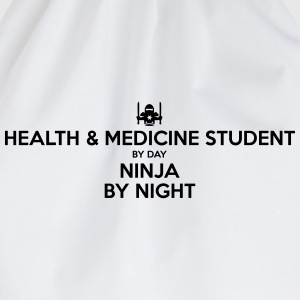 health  medicine student day ninja by ni - Drawstring Bag