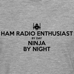 ham radio enthusiast day ninja by night - Men's Premium Longsleeve Shirt