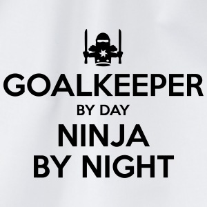goalkeeper day ninja by night - Drawstring Bag