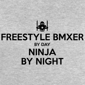 freestyle bmxer day ninja by night - Men's Sweatshirt by Stanley & Stella