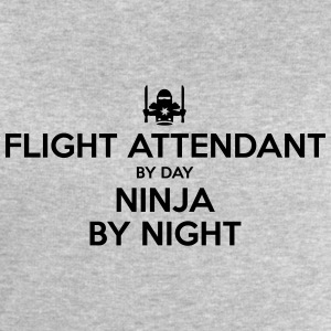 flight attendant day ninja by night - Men's Sweatshirt by Stanley & Stella