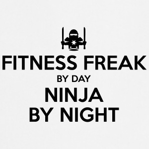 fitness freak day ninja by night - Cooking Apron