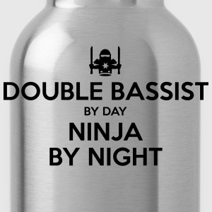 double bassist day ninja by night - Water Bottle