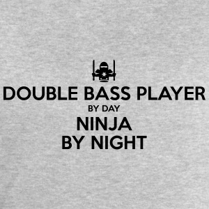 double bass player day ninja by night - Men's Sweatshirt by Stanley & Stella