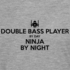 double bass player day ninja by night - Men's Premium Longsleeve Shirt