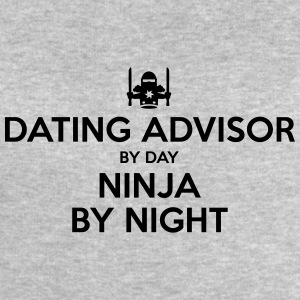 dating advisor day ninja by night - Men's Sweatshirt by Stanley & Stella