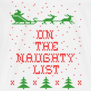 On the naughty list Baby Bodysuits - Men's Premium T-Shirt