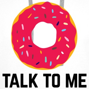 Donut Talk To Me Funny Quote Vesker & ryggsekker - Premium hettegenser for menn