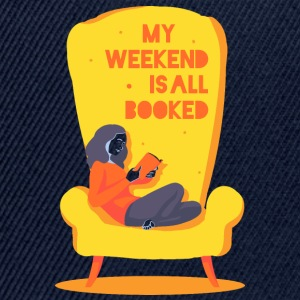 My weekend is all booked Långärmade T-shirts - Snapbackkeps