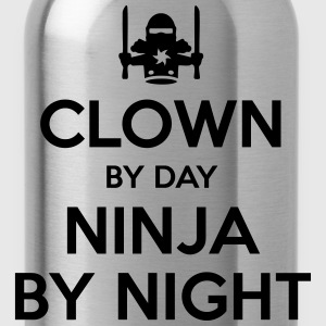 clown day ninja by night - Water Bottle