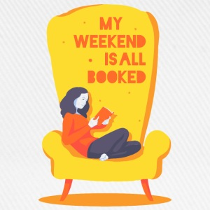 My weekend is all booked Långärmade T-shirts - Basebollkeps