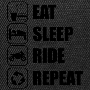 Eat,sleep,ride,repeat T-shirt moto motards - Casquette snapback