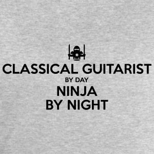 classical guitarist day ninja by night - Men's Sweatshirt by Stanley & Stella