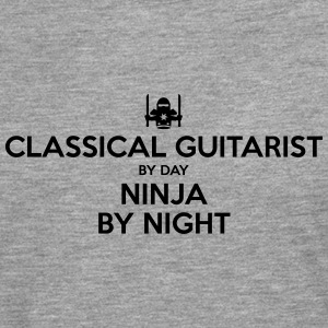 classical guitarist day ninja by night - Men's Premium Longsleeve Shirt