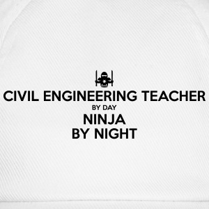 civil engineering teacher day ninja by n - Baseball Cap