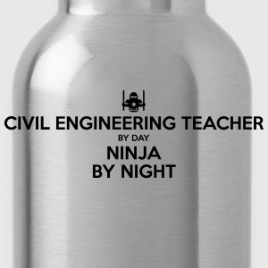 civil engineering teacher day ninja by n - Water Bottle