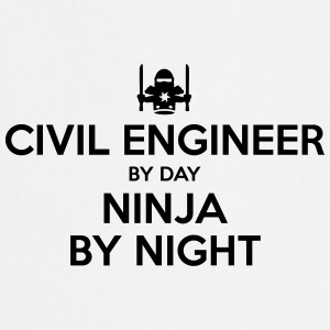 civil engineer day ninja by night - Cooking Apron