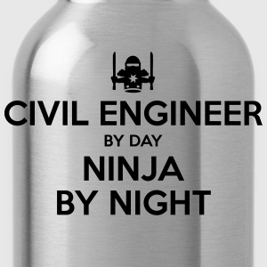 civil engineer day ninja by night - Water Bottle