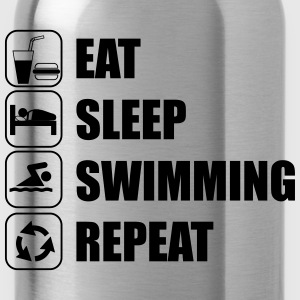 Eat,sleep,swimming,repeat - Water Bottle