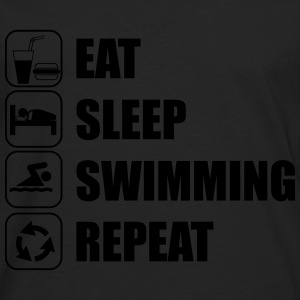 Eat,sleep,swimming,repeat - Men's Premium Longsleeve Shirt