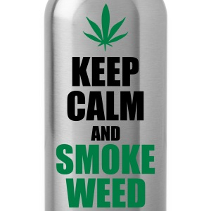 Keep calm and smoke weed  - Water Bottle