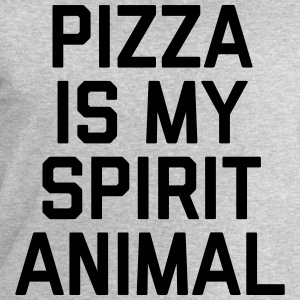 Pizza Spirit Animal Funny Quote T-Shirts - Men's Sweatshirt by Stanley & Stella