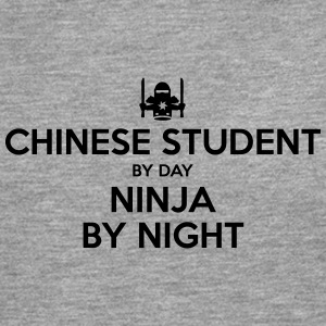 chinese student day ninja by night - Men's Premium Longsleeve Shirt