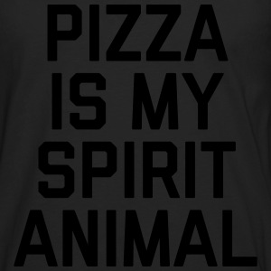 Pizza Spirit Animal Funny Quote Topper - Premium langermet T-skjorte for menn