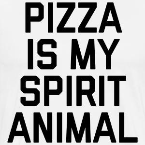 Pizza Spirit Animal Funny Quote Grembiuli - Maglietta Premium da uomo
