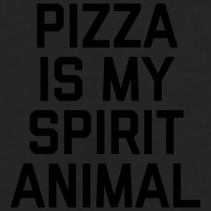 Pizza Spirit Animal Funny Quote Caps & Mützen - Männer Premium Langarmshirt