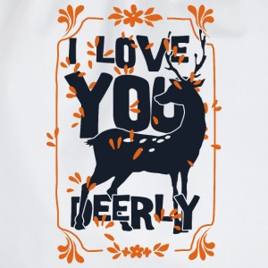 I love you deerly- Liebe Hirsch Reh Tier T-shirts - Gymnastikpåse