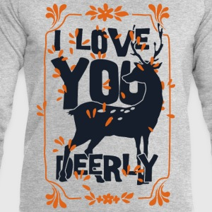 I love you deerly- Liebe Hirsch Reh Tier T-shirts - Sweatshirt herr från Stanley & Stella